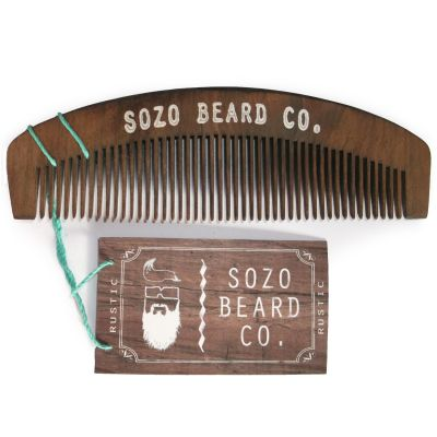 Sozo Beard Comb Rustic brown