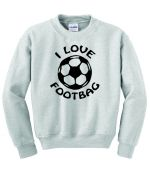I Love Footbag Crew Neck Sweatshirt