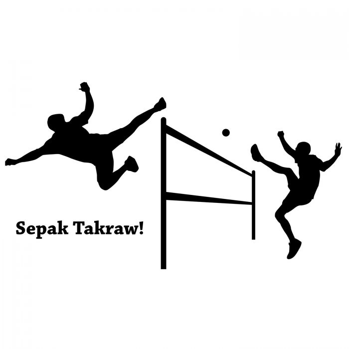 Footbagcentral Com Sepak Takraw Attacker Wall Decal